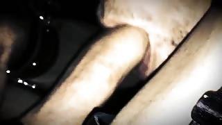 Uomo voglioso di cazzo si riprende mentre succhia quello di una trans!