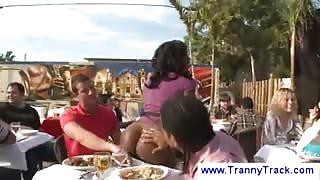 Sesso in pubblico con la Ts Natassia Dream:part1